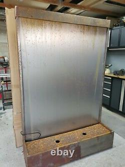 1.75m Corten High Steel Water Wall NEW BOXED