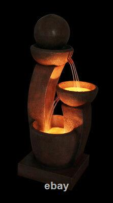 3 Tier Friendship Water fountain Feature Cascade Contemporary Stone Effect