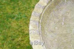 3-Tier Water Feature Cascade Classical Regal White Stone Effect Garden Fountain