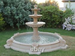 3 Tiered Barcelona In Large Neopolitan Surround Stone Garden Water Fountain