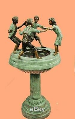 4 Foot Tall Bronzed Ornate Outdoor Garden Water Feature Fountain Decor Sale Larg