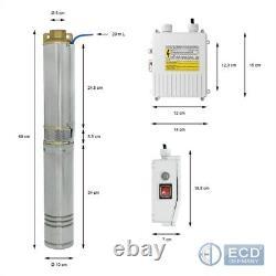 4 borehole pump deep well pump submersible water pump garden pump electric 370W