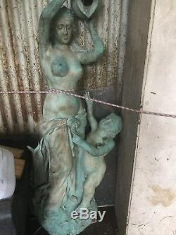 5M BRONZE Mermaid Water Fountain Statue Sculpture Pond Lake Garden Feature