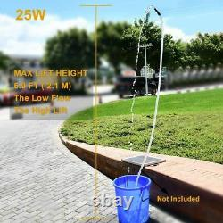 980L/H Solar Panel Powered Fountain Garden Pool Pond Submersible 12V Water Pump