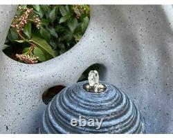 Abstract Flame Water Feature, Modern water feature, garden fountain, Solar Powered