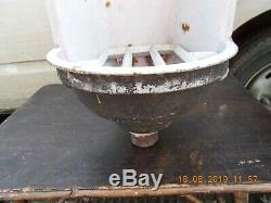 Antique Cast Iron Drinking Water Fountain With Grate / Font / French 26 X 12