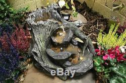 Ashridge Woodland Garden Water Feature, Solar Powered Outdoor Fountain