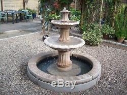 Aster Double Pool Surround 2 Tiered Barcelona Water Fountain Garden Featur