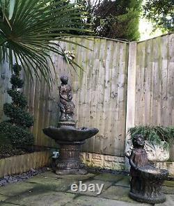 Beautiful Large Water Fountain Feature Garden Ornament plus Bird Bath RRP £550