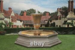 Brecon Pool Surround, With Kensington Urn Garden Water Fountain Feature
