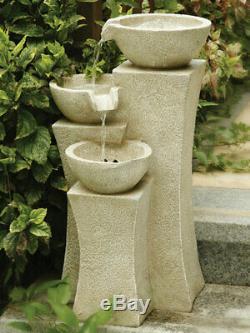 Cascade Fountain Electric Pump Water Feature Indoor Outdoor Garden Gift