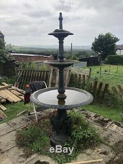 Cast Iron Fountain, Cast Iron 3 tier water feature