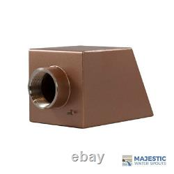Cecetto 4 Water Fountain Spout Scupper for Pool Fountain Pond Feature COPPER