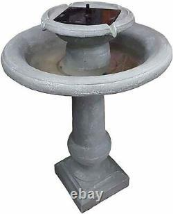 Chatsworth Solar Water Feature Garden Fountain Cascade Stone Effect Decoration
