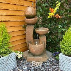 Companion Contemporary Garden Water Feature, Outdoor Fountain Great Value