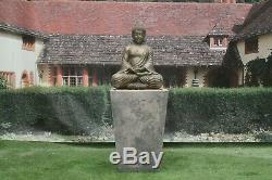 Compassion Buddha On Cantabury Tub Stone Garden Water Fountain Feature