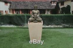 Compassion Buddha On Cantabury Tub Stone Garden Water Fountain Feature