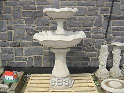 Concrete Garden Water Fountain Two Tier