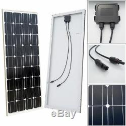 DC 12V 50W Submersible Fountain Water Pump + 120With100W Solar Panel Pool Garden