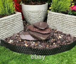 Drilled 4 Stack Paddle Stone Garden Water Feature, Outdoor Fountain Great Value