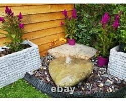 Drilled Natural Boulder 92 Garden Water Feature, Outdoor Fountain Great Value