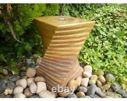 Eastern Rainbow Twist Water Feature Fountain, Garden Vase, Outdoor Decor