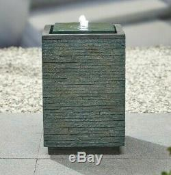 Easy Fountain Mosaic Cube Garden Outdoor Water Feature includes LED light(s)