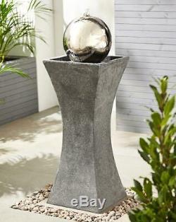 Eclipse Column Water Fountain Outdoor Garden Water Decoration Ornament Gift New