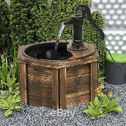 Electric Garden Fountain Water Feature Ornament Hand Pump Vintage Style Decor