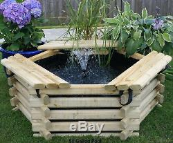 Fish Pond Tank Garden Pool 50 Gallon with Liner & Pump Outdoor Water Fountain
