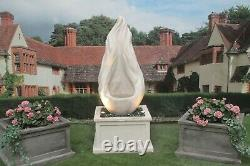 Flame On Heritage Tub Water Fountain Feature Stone Garden Ornament Statue
