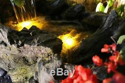 Flowing Woodland Garden Water Feature, Outdoor Fountain Great Value