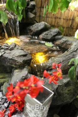 Flowing Woodland Garden Water Feature, Outdoor Fountain Great Value SOLAR