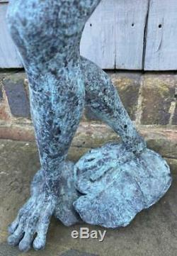 Frog playing Saxophone 80cm Bronze Fountain Water Garden Feature Sculpture