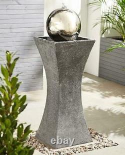 Garden Decor Eclipse Column Water Fountain