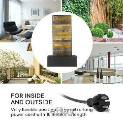 Garden Fountain Outdoor Indoor 12 LEDs Water Pump 8W Fall Decoration
