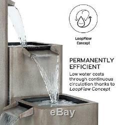 Garden Fountain Outdoor Water feature Cascade Fall Pump 12W Weatherproof