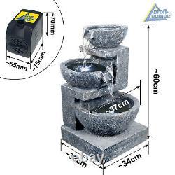 Garden Fountain Water Feature 230v Indoor Fountain Outdoor Fountain Granite Set
