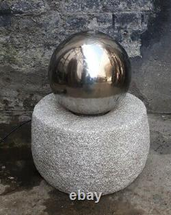 Garden Fountain Water Patio Design Decor Stainless Steel Ball