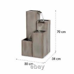 Garden Fountain Water Pump Cascade Outdoor Indoor Home Decor 12W IPX8 Galvanised