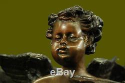 Garden Patio Home Decoration Water Fountain Cherubs Hand Made Sculpture Decor