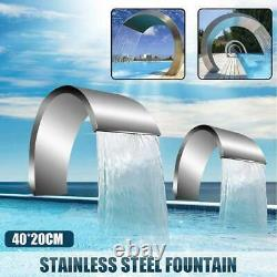 Garden Pond Waterfall Fountain Stainless Steel Water SPA Cascade Swimming Pool