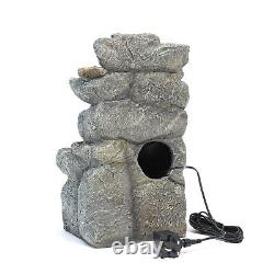 Garden Water Feature Fountain LED Lights Outdoor Statues Solar /Electric Powered