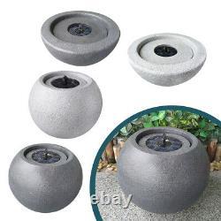 Garden Water Feature Outdoor Solar Powered Modern Round Fountain Feature