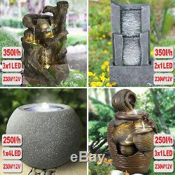Garden Water Pump Feature Fountain Pond Indoor Outdoor Waterfall Cascade Led