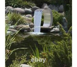 Garden Waterfall Pool Pond Fountain Water Feature Stainless Steel Decor