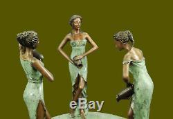 Garden/outdoor/Backyard/Landscape 3 Woman Water Fountain Bronze Sculpture Sale