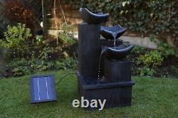 Gardenwize Garden Outdoor Solar Powered Back Cascading Water Fountain Feature
