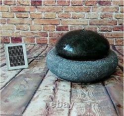 Gardenwize Garden Outdoor Solar Powered Pebble Water Fountain Feature