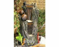 Grand 2 Jug Woodland Water Feature, Traditional Water Feature, Outdoor Fountain